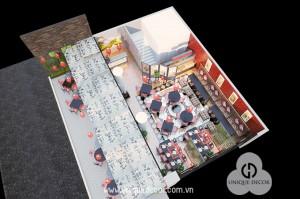 Thiết kế thi công nội thất nhà hàng nướng Hot Pot
