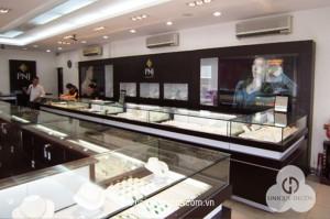 Thiết kế thi công trang trí nội thất showroom shop vàng bạc