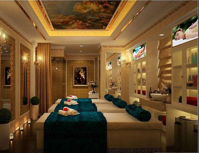 thiết kế nội thất spa mini
