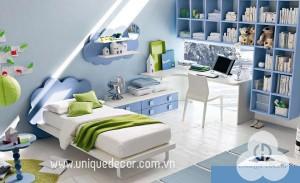 Phong thủy thiết kế nội thất phòng ngủ bé