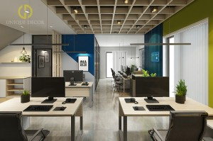 Thiết kế nội thất phòng làm việc.
