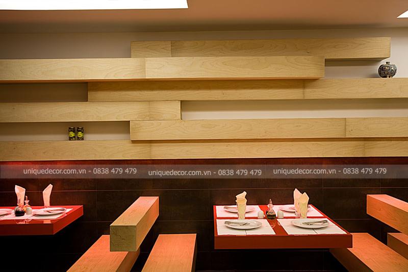 Lựa chọn công ty thi công nội thất nhà hàng diện tích nhỏ thông minh