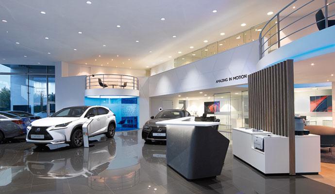 thiết kế nội thất showroom ô tô2