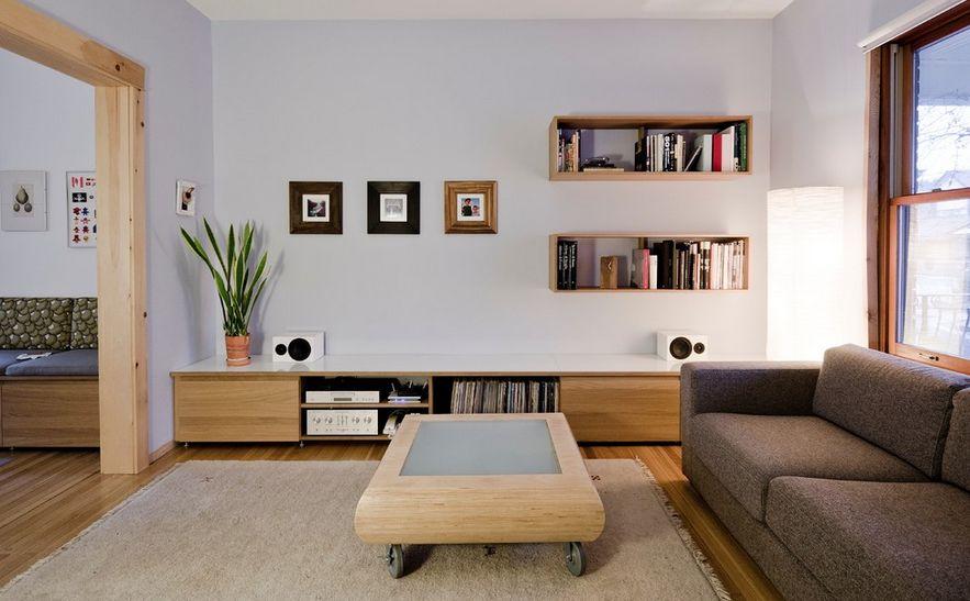 kệ trang trí phòng khách nhỏ 24