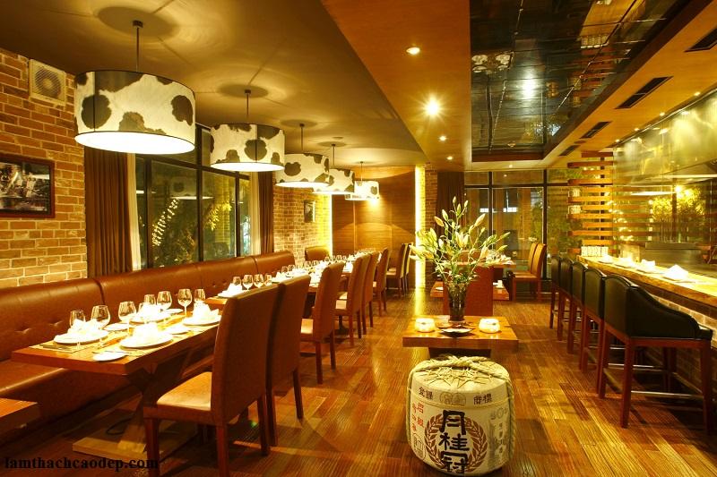 Công ty báo giá tư vấn trang trí nội thất nhà hàng đẹp HCM