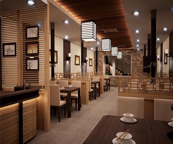 thiết kế nhà hàng nướng không khói