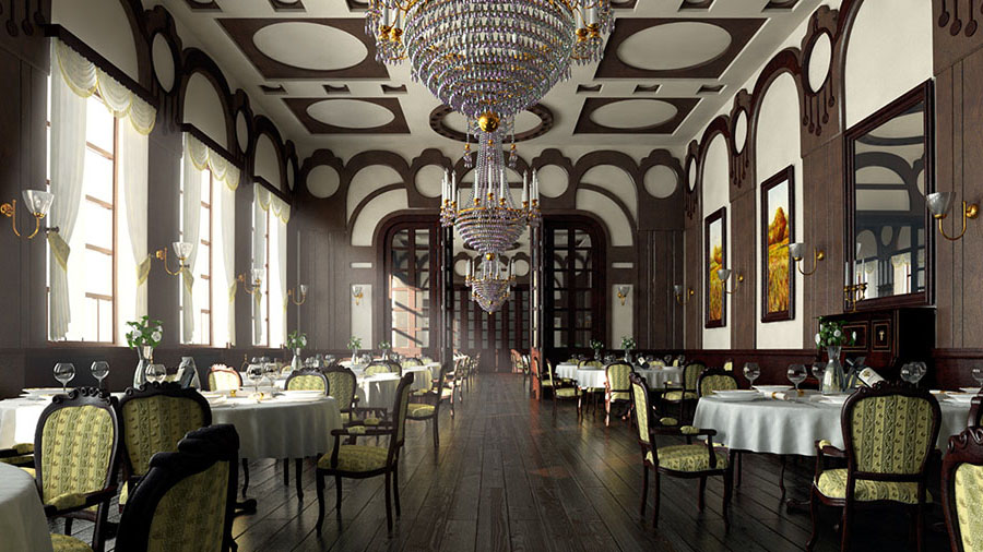 thiết kế nội thất nhà hàng pháp
