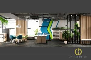 Ý tưởng thiết kế văn phòng đẹp với cây xanh