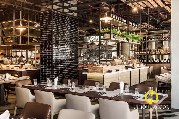 Đơn vị thiết kế thi công không gian nhà hàng ăn uống tiện nghi tốt nhất