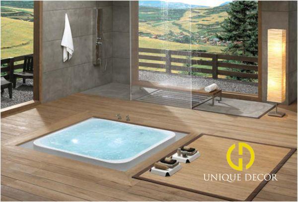 Cách trang trí spa bể ngâm