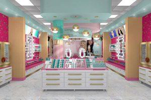 Cách trang trí cửa hàng, shop mỹ phẩm