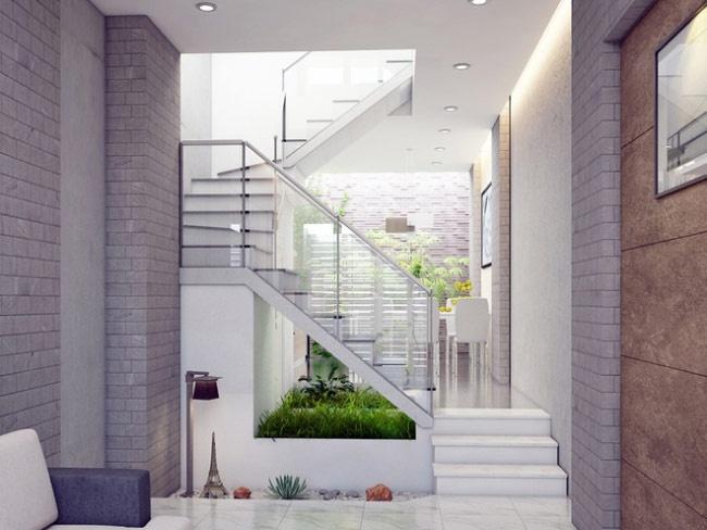 Thông tầng địa điểm cầu thang