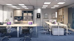 Giải pháp không gian nội thất văn phòng có diện tích nhỏ