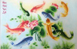 Tranh cá chép phong thủy